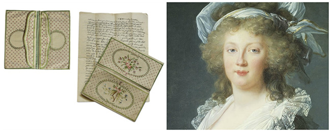 Historical Handbags& The Marie Antoinette Silk Embroidered Purse