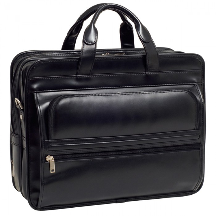 Reviewing McKlein R Series Leather Expandable Double Compartment Laptop Case