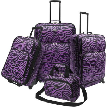 Reviewing U.S. Traveler Fashion Leopard 4 Piece Spinner Set