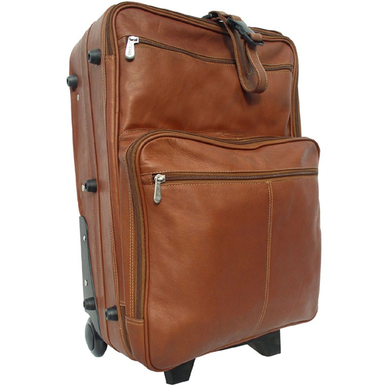 "Piel Leather 22"" Wheeled Traveler"