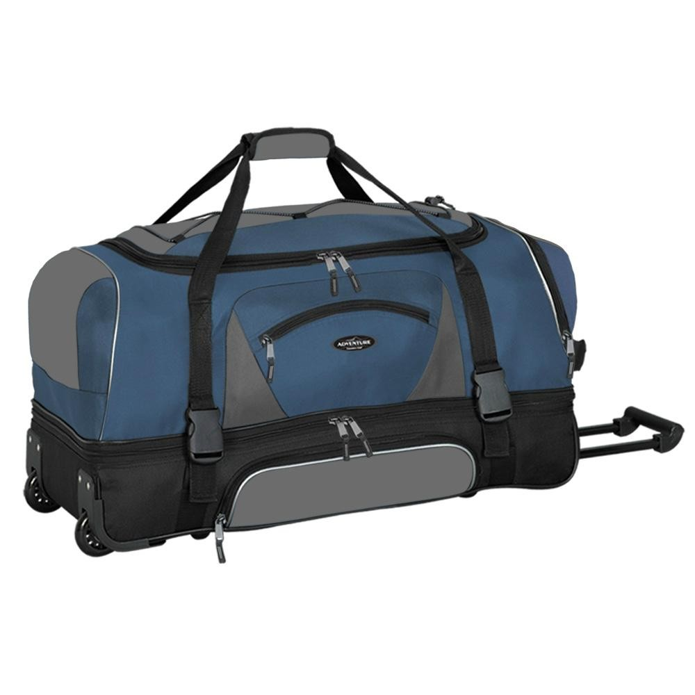"Travelers Club Adventure 30"" 2-Section Drop Bottom Rolling Duffel"