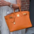 Hermes Birkin handbag yellow