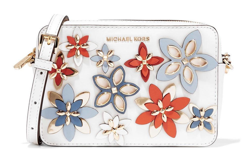 MICHAEL Michael Kors Flower Applique Jet Set Crossbody Bag