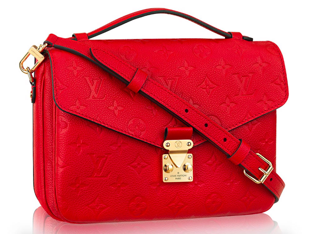 super popular louis vuitton pochette m u00e9tis now comes in leather