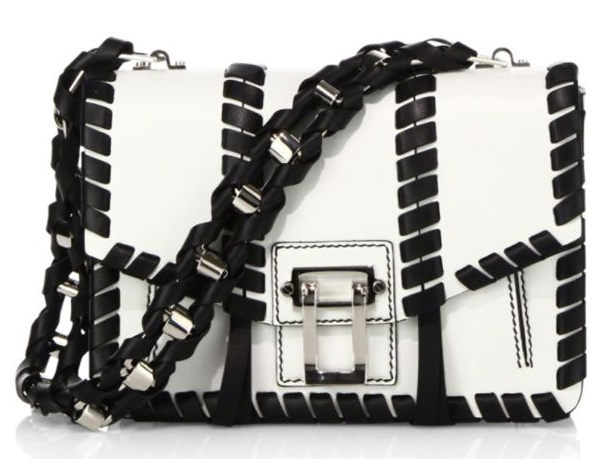 Proenza Schouler Hava Whipstitched Black and white Handbag